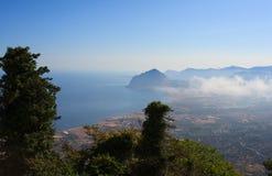 Monte Cofano Erice Royaltyfria Bilder
