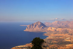 Monte Cofano, Erice Imagen de archivo libre de regalías