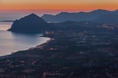 Monte Cofano from Erice Stock Photo