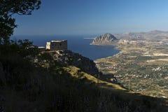 Monte Cofano Mount Cofano en Sicile, Italie Images stock