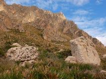 Monte Cofano. Nature Reserve Mount cofano trapani Sicily Royalty Free Stock Images