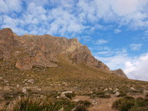 Monte Cofano. Nature Reserve Mount cofano trapani Sicily royalty free stock photos