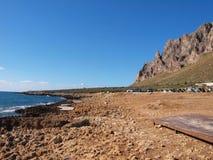 Monte Cofano. Nature Reserve Mount cofano trapani Sicily Stock Images