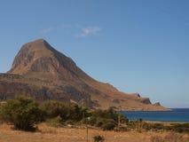 Monte Cofano. Nature Reserve Mount cofano trapani Sicily Stock Photography