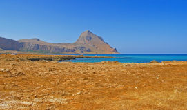 Monte Cofano - Sicily, Italy; panorama Royalty Free Stock Photo