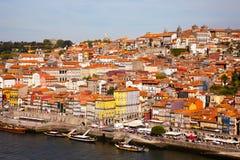 Monte com a cidade velha de Porto e de rio Douro, Portugal Foto de Stock Royalty Free