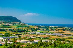 The Monte Conero Riviera from Loreto - Marche - Italy royalty free stock photography