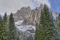Monte Cristallo. Is a well known mountain next to Cortina in the Italian Dolomites area Stock Image