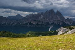 Monte Cristallo Royalty Free Stock Photo