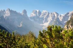 Monte Cristallo, dolomia italiane Immagine Stock