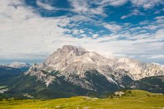 Monte Cristallo, dolomites, Italie photo libre de droits