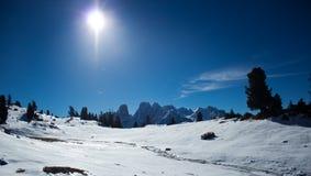 Monte Cristallo, Dolomiti Immagine Stock