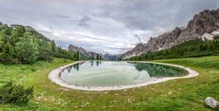 Monte Cristallo Lake Sassi Fotografia de Stock Royalty Free