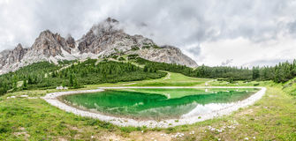 Monte Cristallo. Part of the italian dolomites monte cristallo is perfect for sport activities Royalty Free Stock Photography