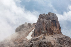 Monte Cristallo - peak Cima di Mezzo (3154 m) Royalty Free Stock Images