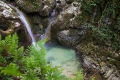 Monte Cucco parkerar i Umbria Arkivbilder