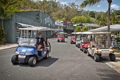 Monte d'un chariot de golf sur Hamilton Island Photo stock