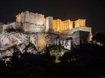 Monte da acrópole com o Partenon em Atenas Grécia imagem de stock royalty free