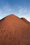 Monte da bauxite no por do sol-Spinazzola-Italy Fotos de Stock Royalty Free