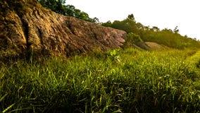 Monte da bauxite situado na ilha de Batam fotografia de stock