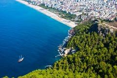 Monte da cidade de Alanya Foto de Stock