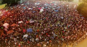 Monte da hippie em 4 20 2015 Foto de Stock Royalty Free