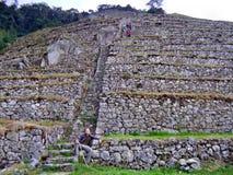 Monte da pedra da fuga do Inca Fotografia de Stock