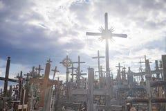 Monte das cruzes Fotografia de Stock