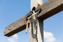 Monte das cruzes em Siauliai, Lituânia Imagem de Stock