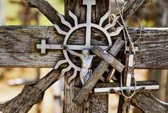 Monte das cruzes em Siauliai, Lituânia imagem de stock royalty free