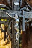 Monte das cruzes em Siauliai, Lituânia fotos de stock