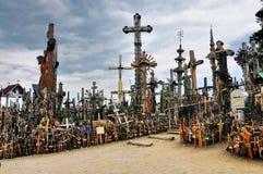 Monte das cruzes, Lithuania fotos de stock