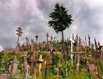 Monte das cruzes, Lithuania imagens de stock