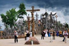 Monte das cruzes, Lithuania foto de stock