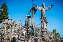 Monte das cruzes, Lithuania Imagem de Stock