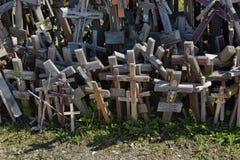 Monte das cruzes, Lithuania Foto de Stock Royalty Free