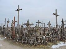 Monte das cruzes, Lithuania Imagem de Stock Royalty Free