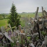 Monte das cruzes, Lituânia, Europa Foto de Stock