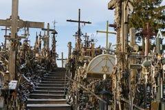 Monte das cruzes, Siauliai, Lithuania fotos de stock