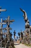 Monte das cruzes SIAULIAI, LITUÂNIA Foto de Stock