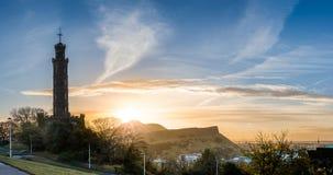 Monte de Calton: Torre do monumento de Nelson Fotos de Stock