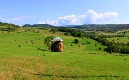 Monte de feno coberto Foto de Stock
