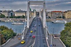 Monte de Gellert da cidade do outono da viagem da ponte de Budapest foto de stock