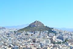 Monte de Lycabettus em Grécia Fotografia de Stock Royalty Free