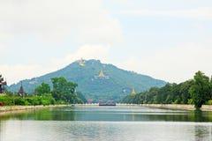 Monte de Mandalay, Mandalay, Myanmar Fotos de Stock Royalty Free