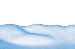 Monte de neve no fundo branco imagem de stock royalty free
