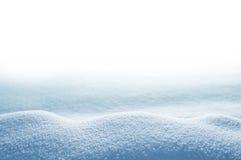 Monte de neve no fundo branco fotografia de stock royalty free