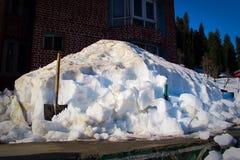 Monte de neve, snowpack, snowfield Fotografia de Stock Royalty Free