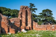 Monte de Palatine, Roma antiga Fotos de Stock