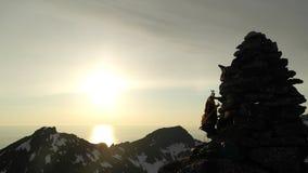 Monte de pedras de Lofoten Fotografia de Stock